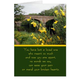 Sympathy Card River View