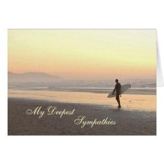 Sympathy card: Surfer Greeting Card