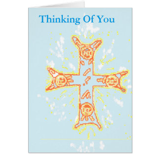 Sympathy Card  Thinking of You  / Greek Cross