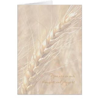Sympathy Card / Wheat Sympathy Card