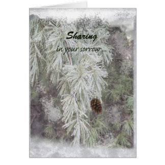 Sympathy Card Winter White