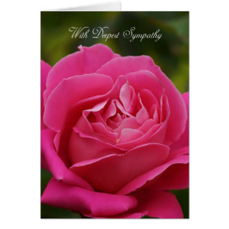 Sympathy Card With Pink Rose