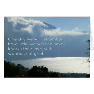Sympathy Card with Quote, Wonder Not Grief