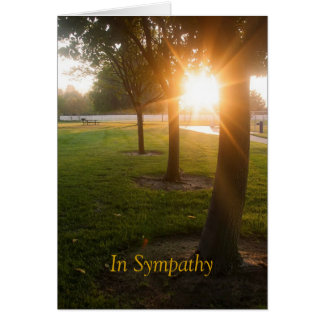 Sympathy Card with Sunset Design