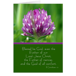 Sympathy Card With Wild Red Clover