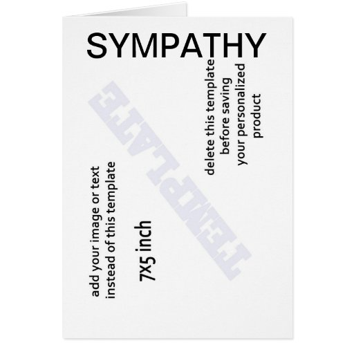 Sympathy Cards Template