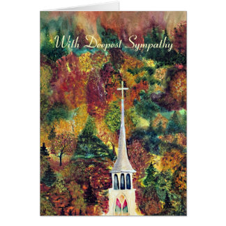 Sympathy Church Spire in Vermont Card
