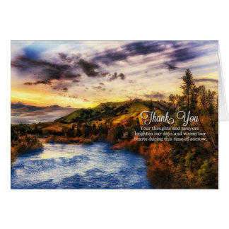 Sympathy Condolences Thank You River Scene Blank Card