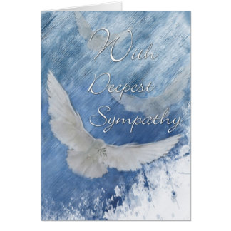 Sympathy Doves-With Deepest Sympathy Card