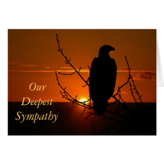 Sympathy - Eagle and sunset Cards