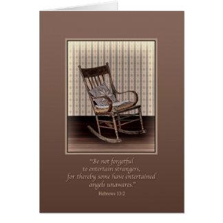 Sympathy, Empty Rocking Chair, Religious Card