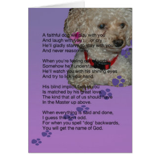sympathy for dog card