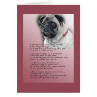 sympathy for dog card