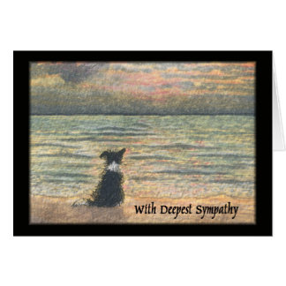 Sympathy for loss of dog greeting card