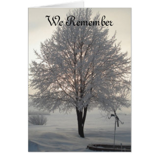 Sympathy Frosty tree series1 Card