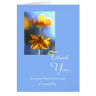 Sympathy Funeral Thank You Card -- Your Kindness