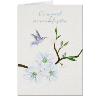 Sympathy Hummingbird with Magnolia Flowers Card