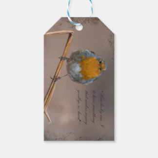 Sympathy little robin gift tags