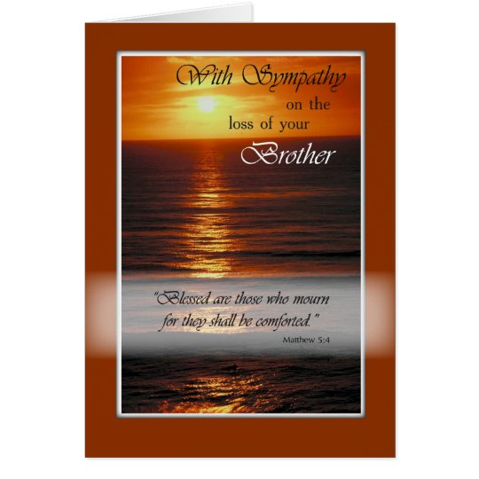 Sympathy Loss of Brother, Ocean, Religious Card