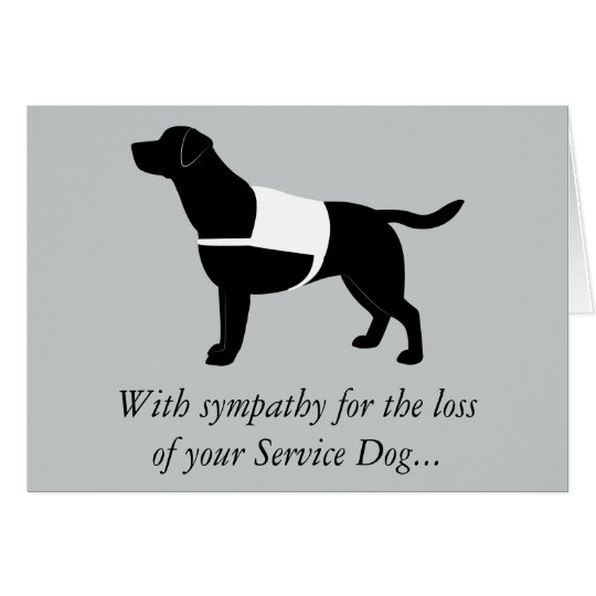 Sympathy Loss Service Black Labrador Retriever Card