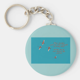 Sympathy-May You Find Comfort Trupeter Swans Basic Round Button Key Ring
