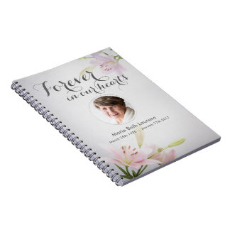 Sympathy Memorial Guest Note Book with Photo