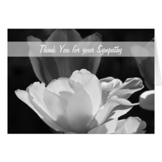 Sympathy Memorial Thank You Note Card -- Tulips