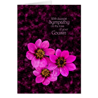 Sympathy on the loss of a cousin card