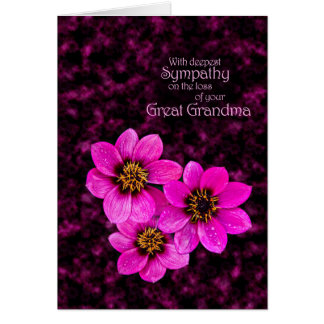 Sympathy on the loss of a great grandma card