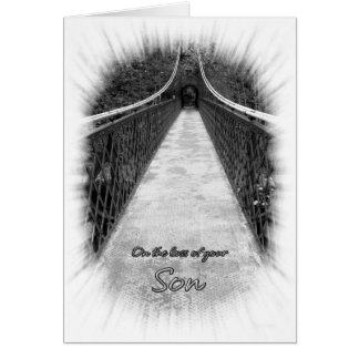 Sympathy on the Loss of Your Son Bridge Card