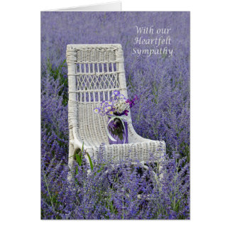 Sympathy Purple Bouquet Card