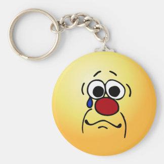 Sympathy Smiley Face Grumpey Basic Round Button Key Ring