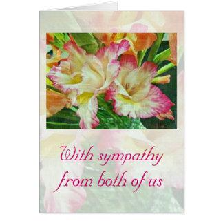 Sympathy Textured Gladiola Card