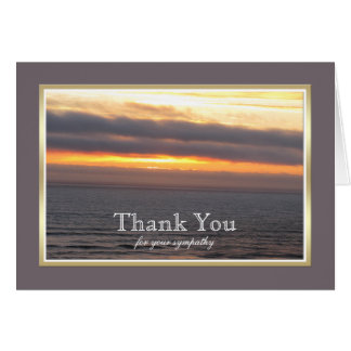 Sympathy Thank You Card -- Sunset Thank You