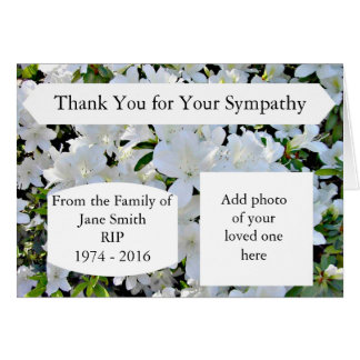 Sympathy Thank You Cards Personalised