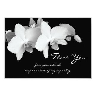 Sympathy Thank You Flat Card - Orchids 9 Cm X 13 Cm Invitation Card