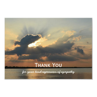 Sympathy Thank You Flat Card - Sunset
