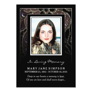 Sympathy Thank You Memorial Photo Card for Her 13 Cm X 18 Cm Invitation Card