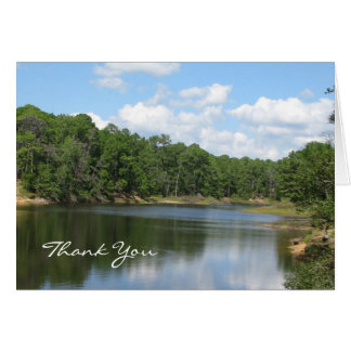 Sympathy Thank You Note Card -- Beautiful Lake