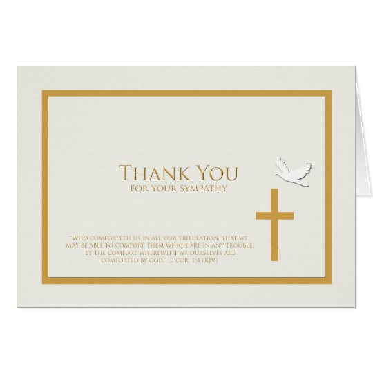 Sympathy thank you note card christian zazzle for Thank you note for condolence gift