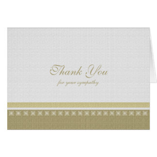 Sympathy Thank You Note Card - Classic Elegance