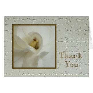 Sympathy Thank You Note Card - Gardenia