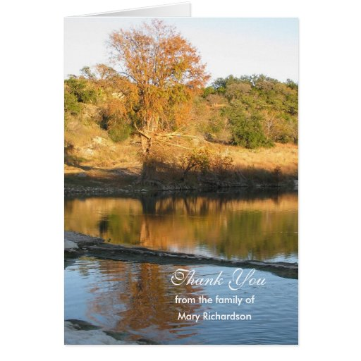 Sympathy Thank You Note Card - River