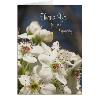Sympathy Thank You Note Card -- Spring Blossoms