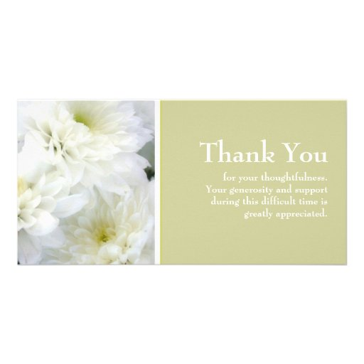 Sympathy Thank You Photo Card Template | Zazzle
