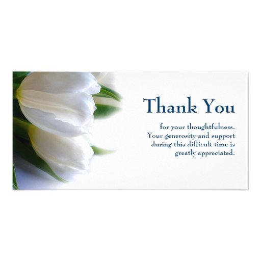 Sympathy Thank You Photo Greeting Card