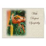 Sympathy - Turk's Cap Lily Wildflower Greeting Card