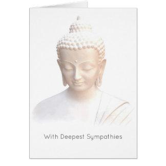 Sympathy - White Buddha | Serene Meditative Calm Greeting Card