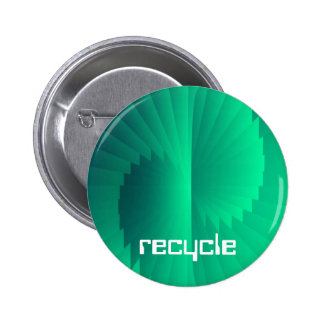 SYMPHONY OF GREEN - recycle 6 Cm Round Badge