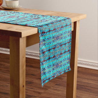 Symphony of Leaves, Aqua Medium Table Runner